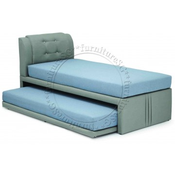 2 in 1 Faux Leather Bed 1089