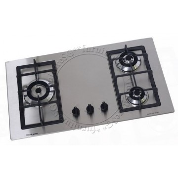 Tecno S/Steel Built-In Hob with Cyclonic Flame And Safety Valves (SR128SV)
