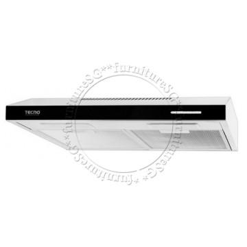 Tecno 100mm ultra slim hood with black acrylic panel (TH-611T)