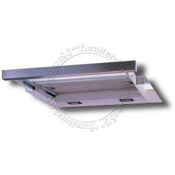 Tecno 90cm slim hood with revolutionary 3 motor design and black acrylic panel (TH931-3M)