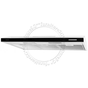 Tecno 90cm 100mm ultra slim hood with black acrylic panel (TH-911T)