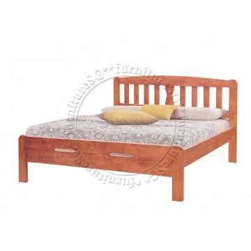 Wooden Bed Frame WB1014 (Cherry/White/Walnut)