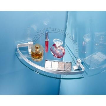 Single layer corner glass shelf (Matte)