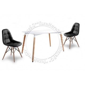 Dining Table Set DNT1233W ( Table + 4 Chairs)