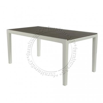 Keter Harmony Outdoor Table Grey (With White legs)