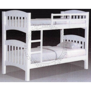 Double Deck Bunk Bed DD1066 (White)