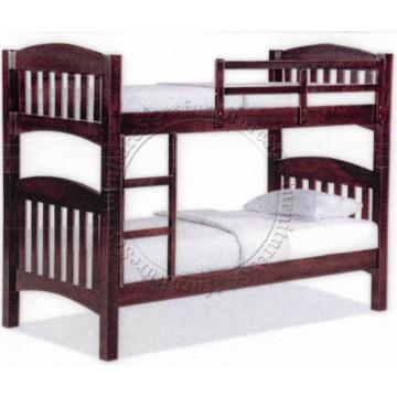 Double Deck Bunk Bed DD1066 (Walnut)