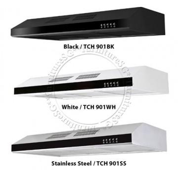 Tecno Slim Line Designer Hood with Maxi-Flow Motor (TCH 901) | 3 COLOURS