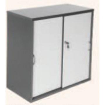 Sliding Door Cabinet (Two Tone Grey)