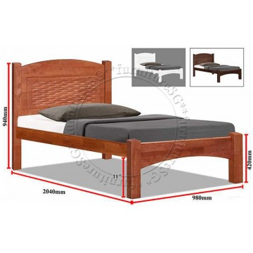 Wooden Bed WB1102   Available in 3 Colours