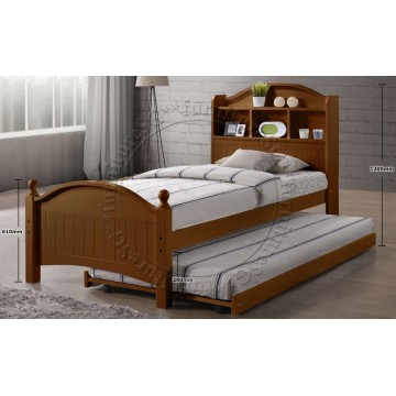 Country Wooden Bed WB1103 - Oak