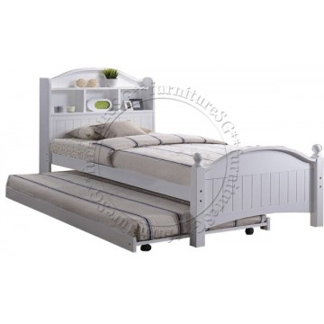 Country Wooden Bed WB1103 -Off White