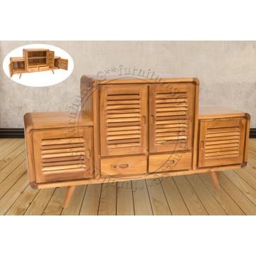 Wyatt Solid Teak Wood Sideboard and Buffet Table