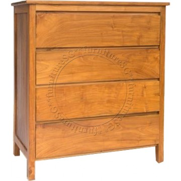 Scandi Solid Teak Chest of Drawers