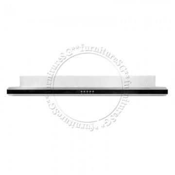 UNO Slim Line Hood with Black Acrylic Front Panel UA 9112