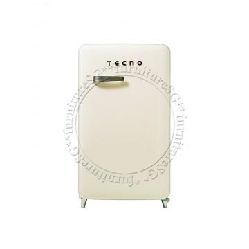 Tecno 1-Door Retro Series Designer Fridge (Cream)