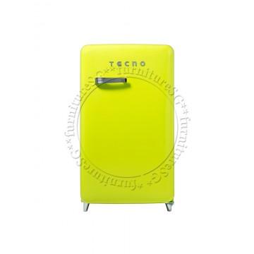 Tecno 1-Door Retro Series Designer Fridge (Lemon)