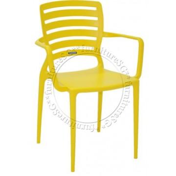 Tramontina - Sofia Armchair Horizontal Backrest (Yellow)
