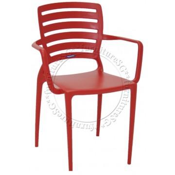 Tramontina - Sofia Armchair Horizontal Backrest (Red)