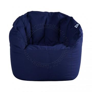 Chilla Fabric Bean Bag Chair - Navy Blue