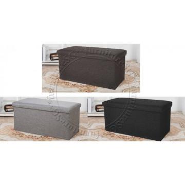 Fabric Storage Stool (76X38X38)