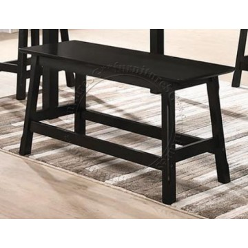 Solid Wooden Dining Bench (Walnut)