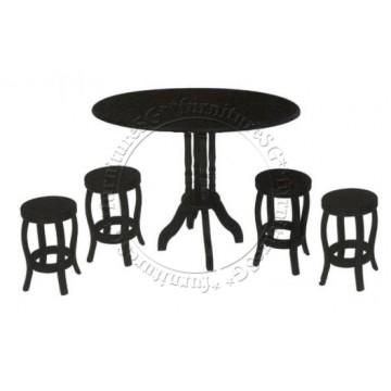 Moor Dining Table Set (Walnut)