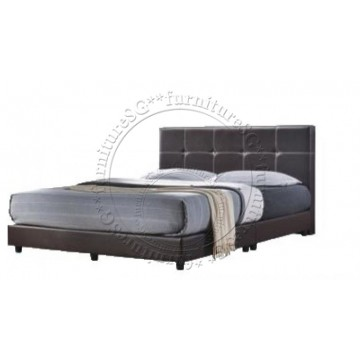 Stanley Faux Leather Bed - Queen