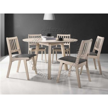 Summer Dining Set Table + 6 Chairs(Discon-WT)