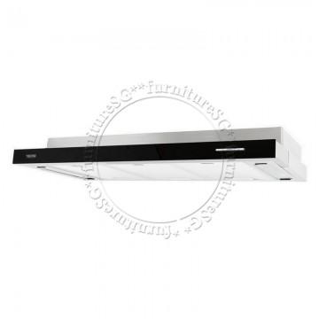 Tecno 60cm Slim Hood with Black Acrylic Front Panel TH 678T