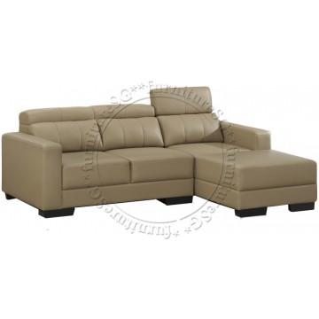 Southwest L-Shape Sofa Set (Half Leather)
