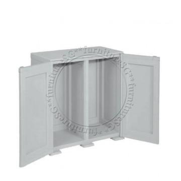 Tontarelli - Simplex Low Cabinet - 2 High Compartments Grey