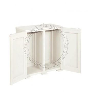 Tontarelli - Simplex Low Cabinet - 2 High Compartments Cream
