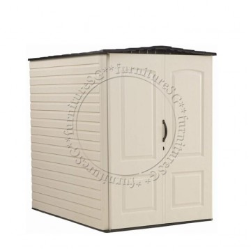 Rubbermaid - Large Vertical Shed 5 x 6 Feet Sand + Free Assembly