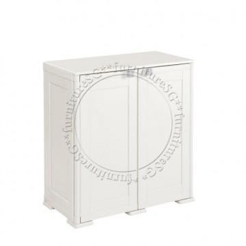 Tontarelli - Simplex Low Cabinet - 2 Compartments Cream