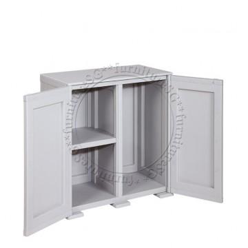 Tontarelli - Simplex Low Cabinet - 3 Compartments Grey