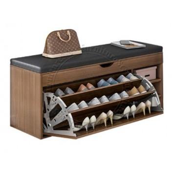 Shoe Cabinet cum Bench 100cm (Brown)